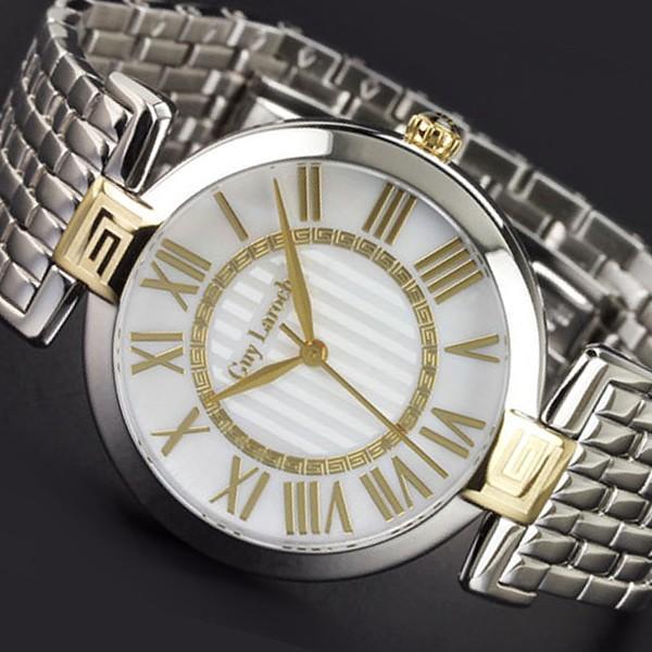 【お買得】 ギラロッシュ[Guy Laroche]レディース腕時計 クォーツ メタルベルト シルバー シルバー ゴールド ゴールド ホワイト/L2008-04, トランスポーツ:72f350d9 --- airmodconsu.dominiotemporario.com