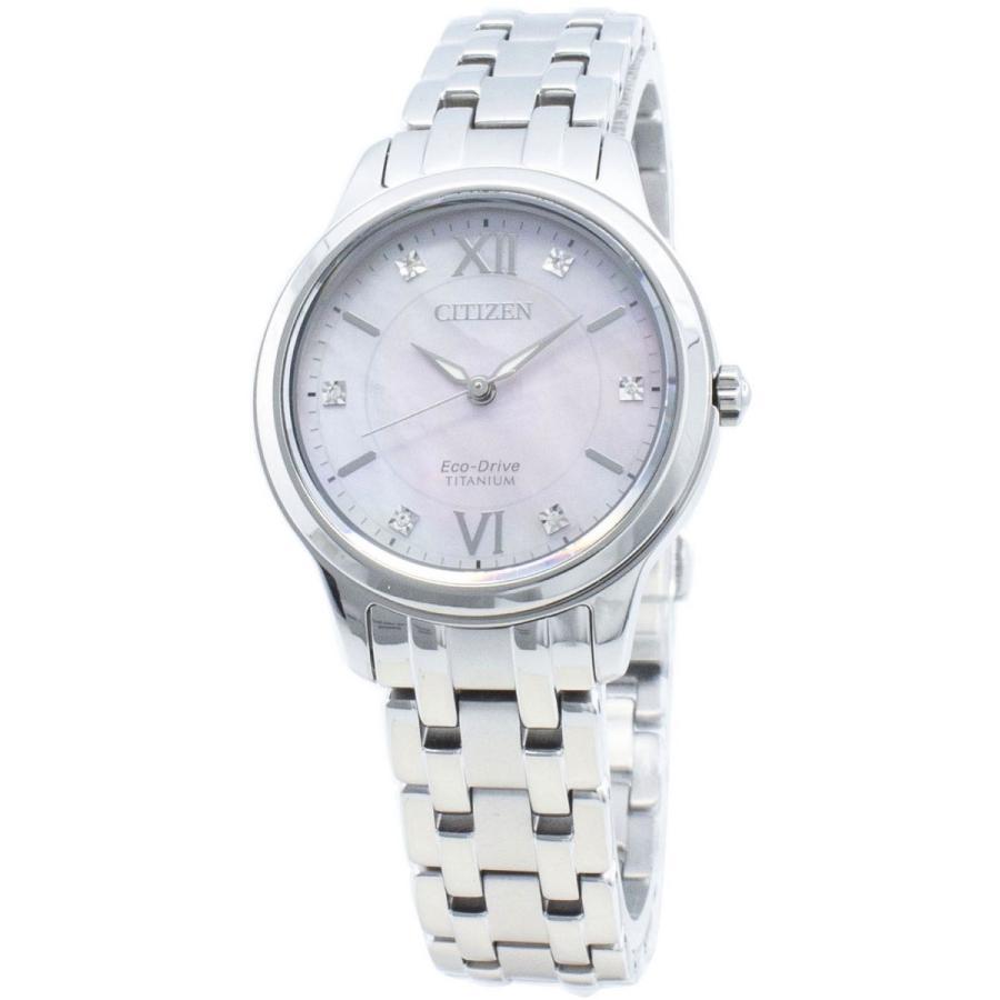 人気ブランドの シチズン CITIZEN 腕時計 海外モデル ECO-DRIVE エコドライブ チタン ダイアモンド EM0720-85Y レディース, 豊貿易 74092c71
