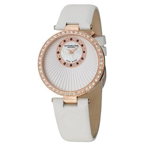 【コンビニ受取対応商品】 ストゥーリング オリジナル Stuhrling Original 女性用 腕時計 レディース ウォッチ ホワイト 597.04, Genufine 59a7bf6d