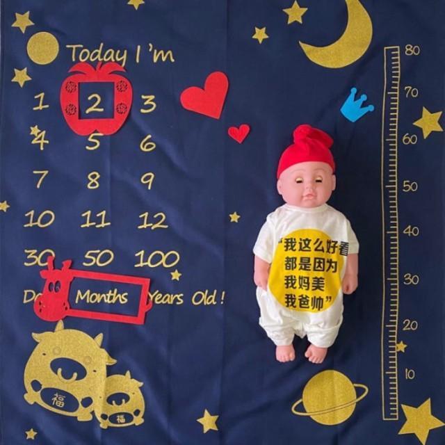 寝相アート ブランケット 全6種 ベビー 赤ちゃん 記念日 100日 ハーフバースデー フォト ラグ マット シーツ お昼寝アート 出産祝い|watchshop-hanna|07