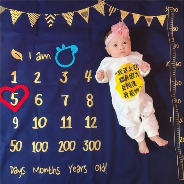 寝相アート ブランケット 全6種 ベビー 赤ちゃん 記念日 100日 ハーフバースデー フォト ラグ マット シーツ お昼寝アート 出産祝い|watchshop-hanna|09