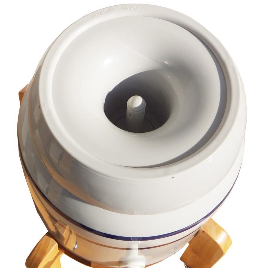 陶器製サーバー スプリングウェル(ノンスピルタイプ)ウォーターサーバー 常温 陶器製 木製スタンド付き 卓上 waterea 02