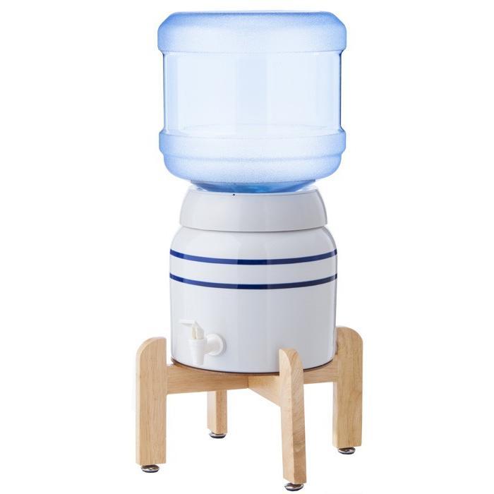 陶器製サーバー スプリングウェル(ノンスピルタイプ)ウォーターサーバー 常温 陶器製 木製スタンド付き 卓上 waterea 04