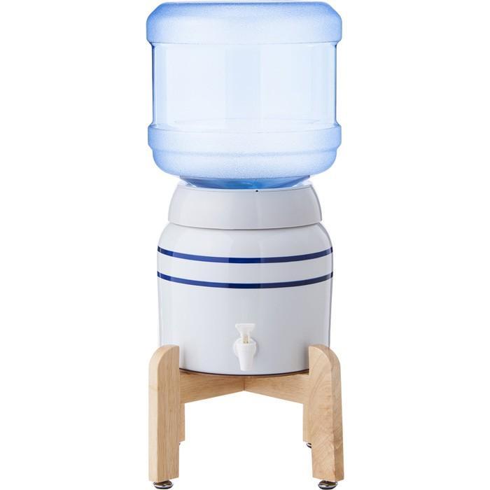 陶器製サーバー スプリングウェル(ノンスピルタイプ)ウォーターサーバー 常温 陶器製 木製スタンド付き 卓上 waterea 05