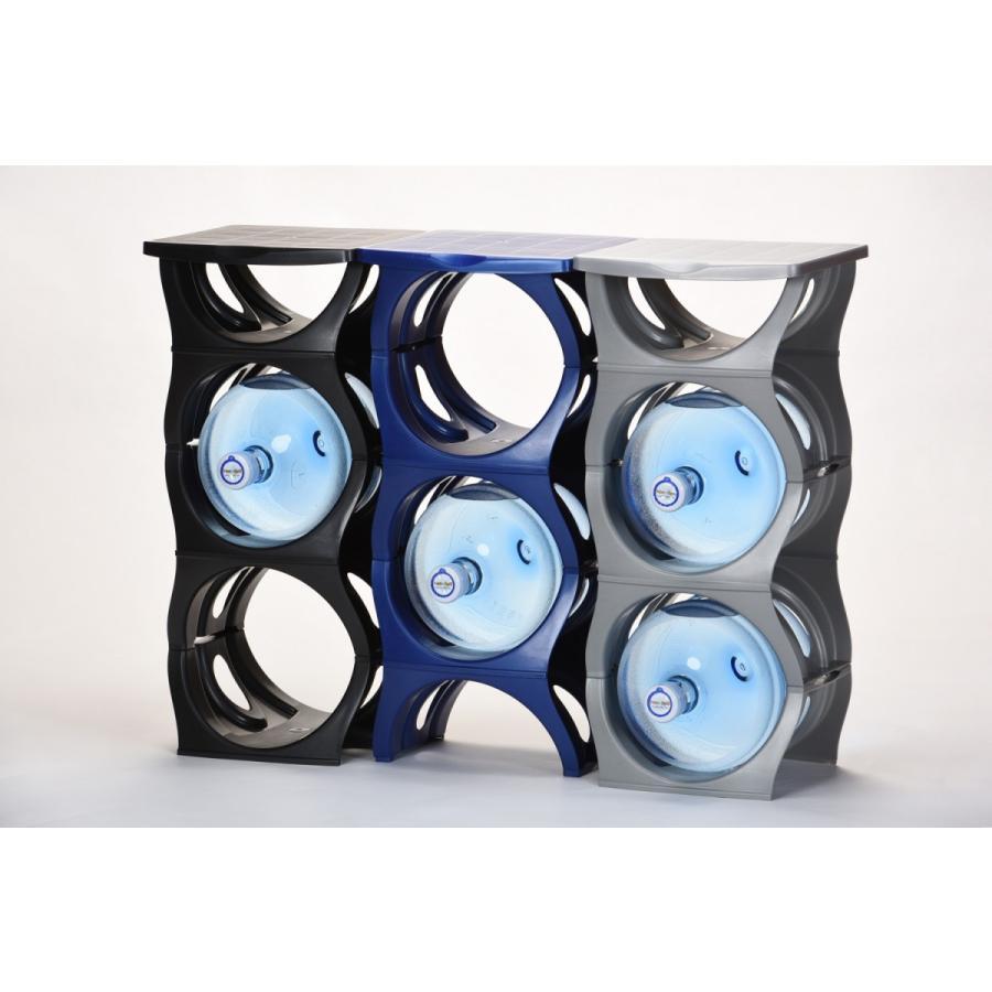 ユーウォーターボトルラック【U-shape6枚+Shelf】ガロンボトル収納 ウォーターサーバー水  ボトルラック|waterea|04