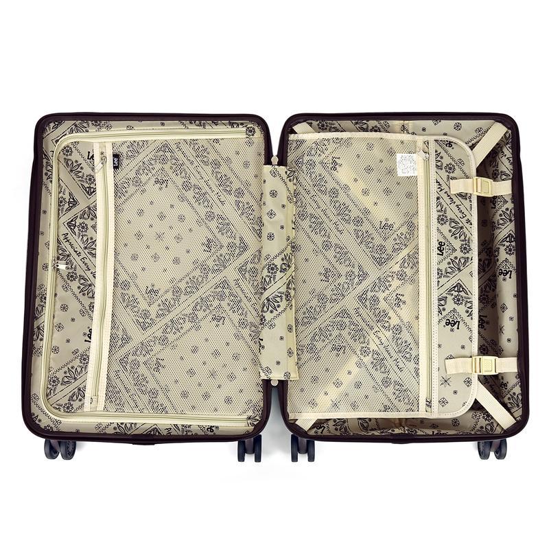 Lee リー  スーツケース キャリーケース 50L 56cm 3.73kg 2〜3泊 4輪 TSAロック 軽量 ファスナー式 320-9001 レディース 送料無料|watermode|03