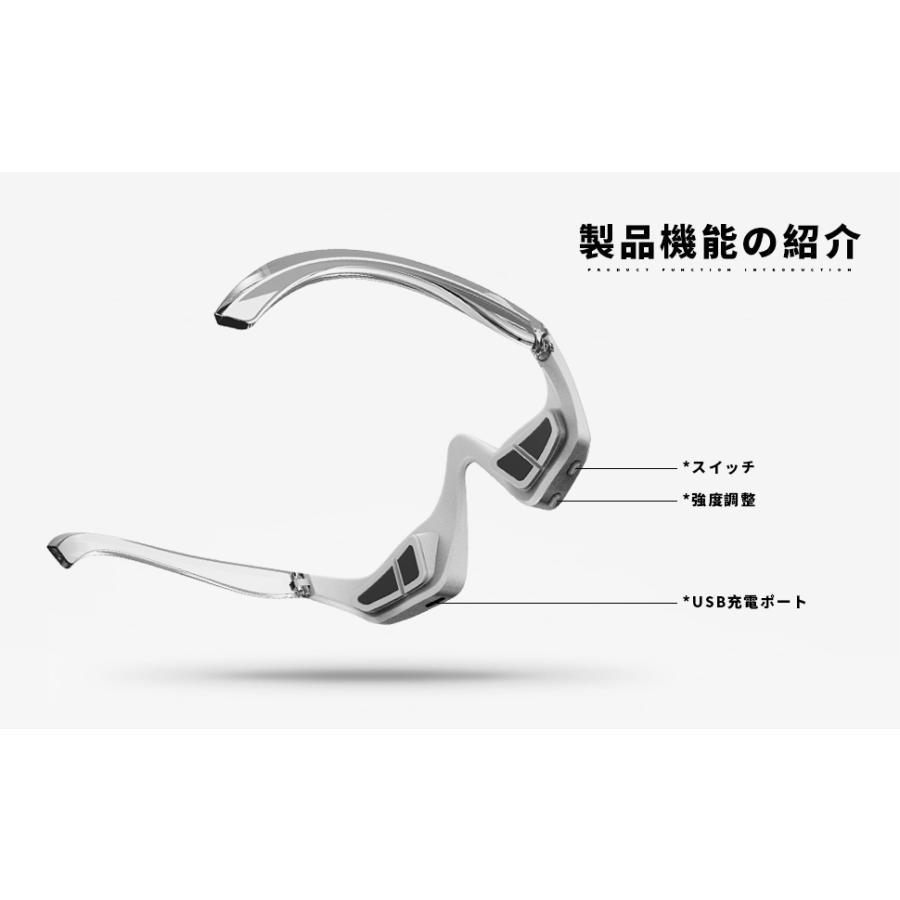 目元 美顔器  低周波アイマッサージャー 電気 振動 たるみ クマ 目の疲れ EMS リラックス メガネ型 アイマッサージャー wauma-tenpo 08