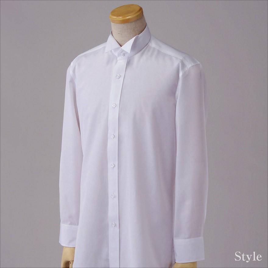 【メール便送料無料】ウイングカラー フォーマル ブライダル シャツ 結婚式 モーニング バーテンダー タキシード ドレス ウイングカラー K-2 wawajapan 07