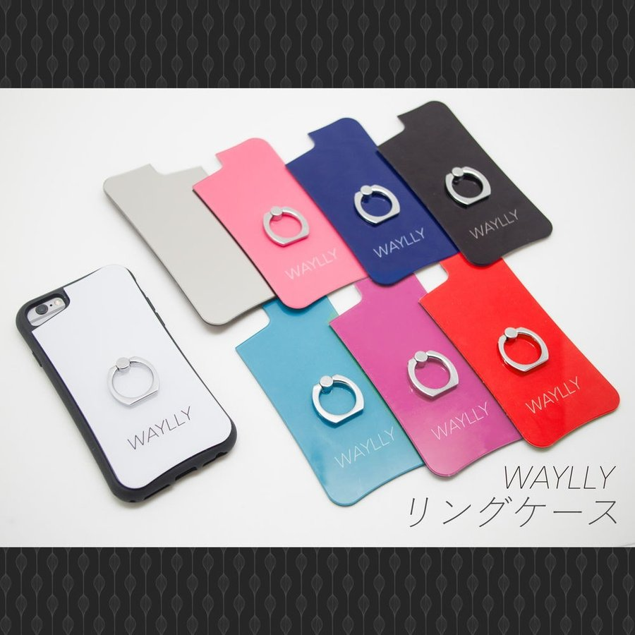 iPhone8 7 6s 6 SE 第2世代 ケース スマホケース スモールロゴ 耐衝撃 シンプル おしゃれ くっつく ウェイリー WAYLLY _MK_|waylly|09