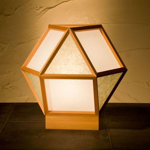 和風スタンドライト 行灯 的 mato 白×銀鼠 1灯タイプ (AP522-B)