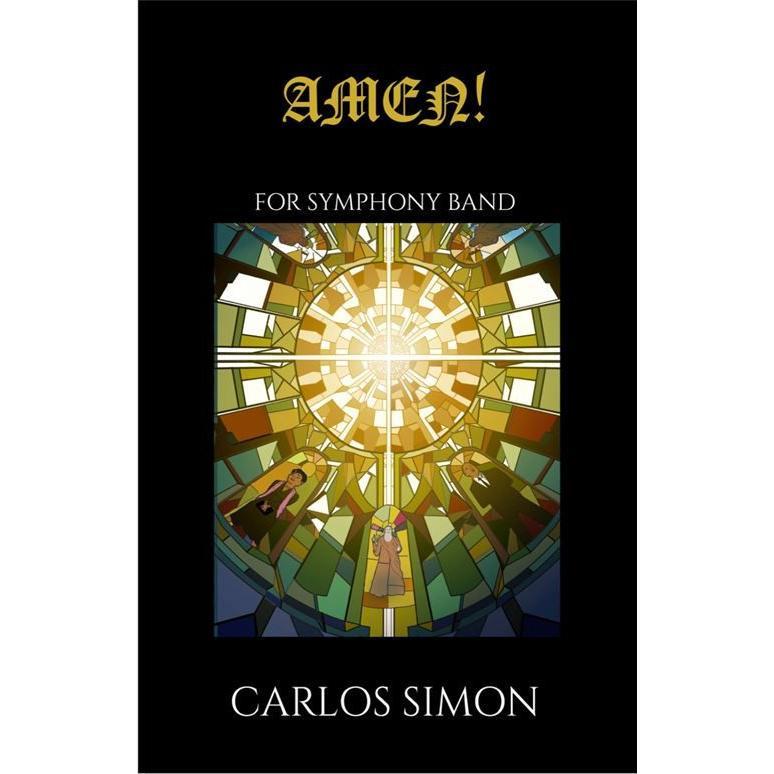 (楽譜) アーメン! / 作曲:カルロス·サイモン (吹奏楽)(パート譜のみ レンタル)