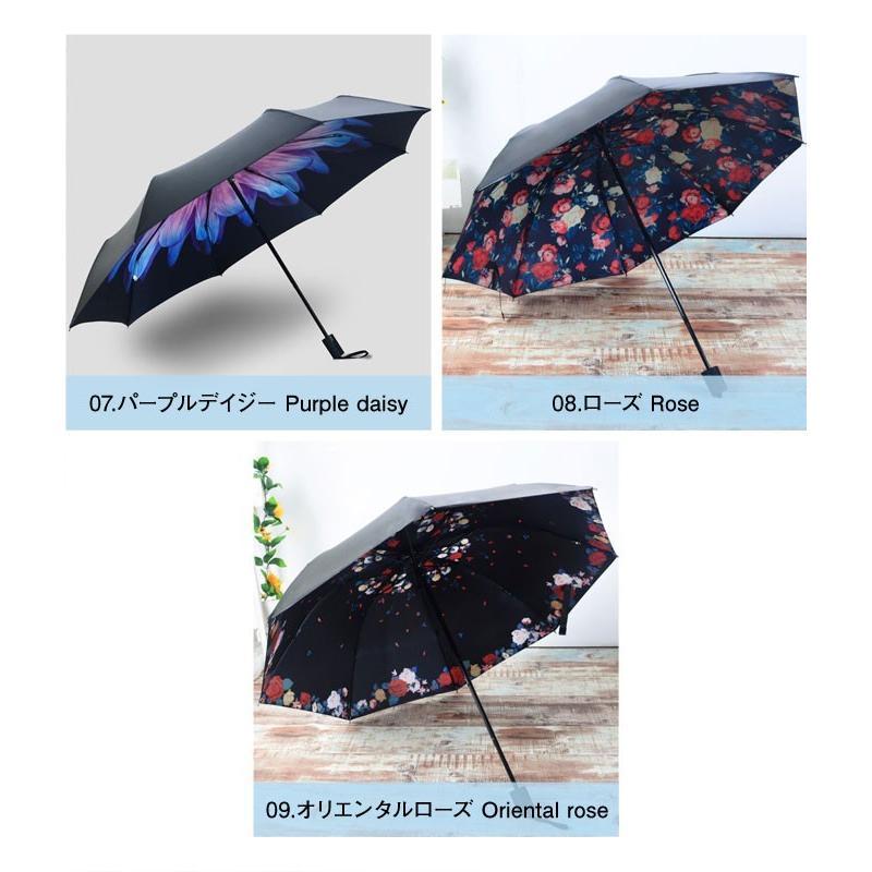 折りたたみ傘 日傘 晴雨兼用 レディース 大きい 丈夫 折りたたみ 遮光 uv対策|wc-y|14