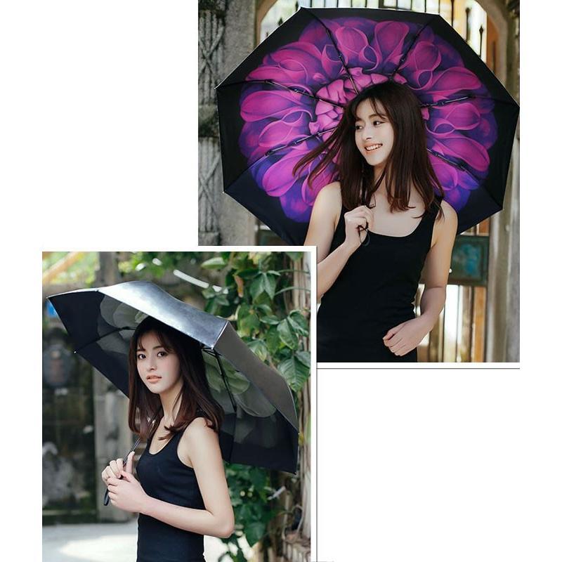 折りたたみ傘 日傘 晴雨兼用 レディース 大きい 丈夫 折りたたみ 遮光 uv対策|wc-y|03