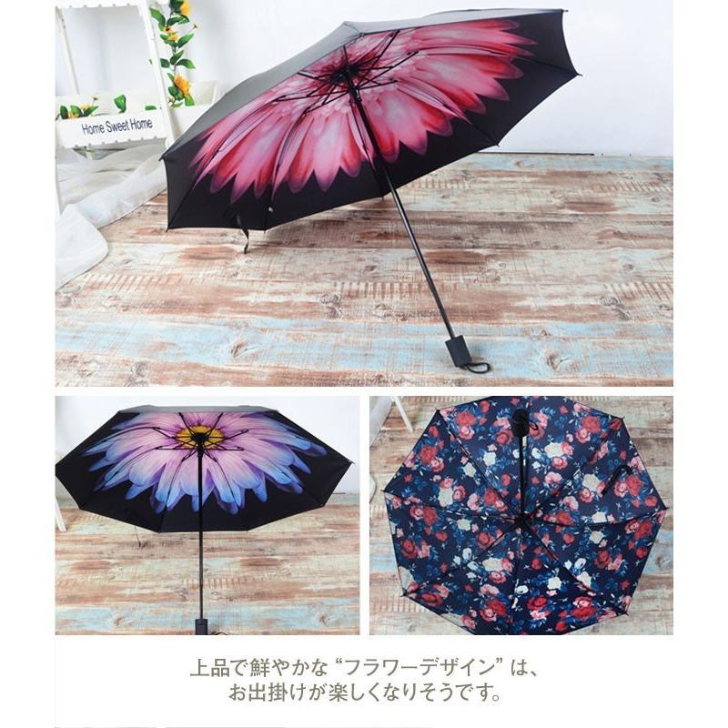 折りたたみ傘 日傘 晴雨兼用 レディース 大きい 丈夫 折りたたみ 遮光 uv対策|wc-y|05