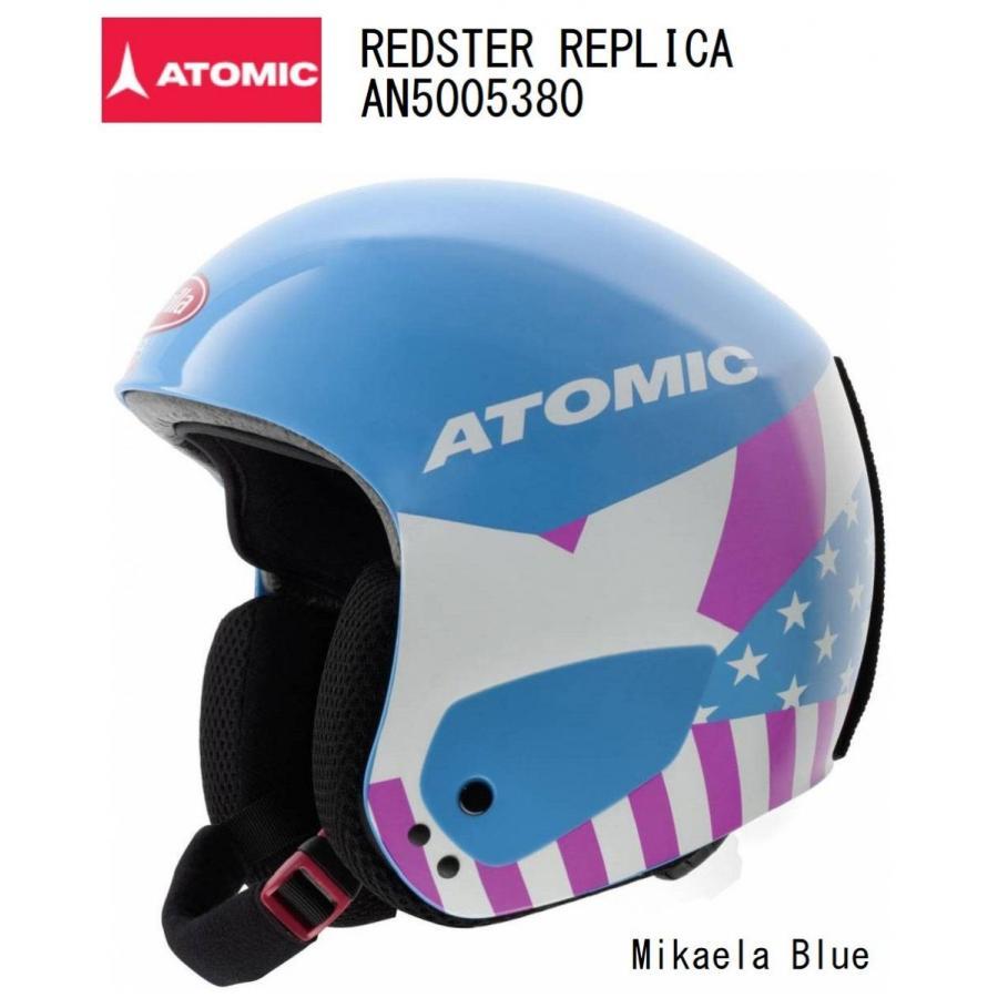 ATOMIC アトミック 赤STER REPLICA レッドスター レプリカ AN5005380 Mikaela 青 スキーヘルメット