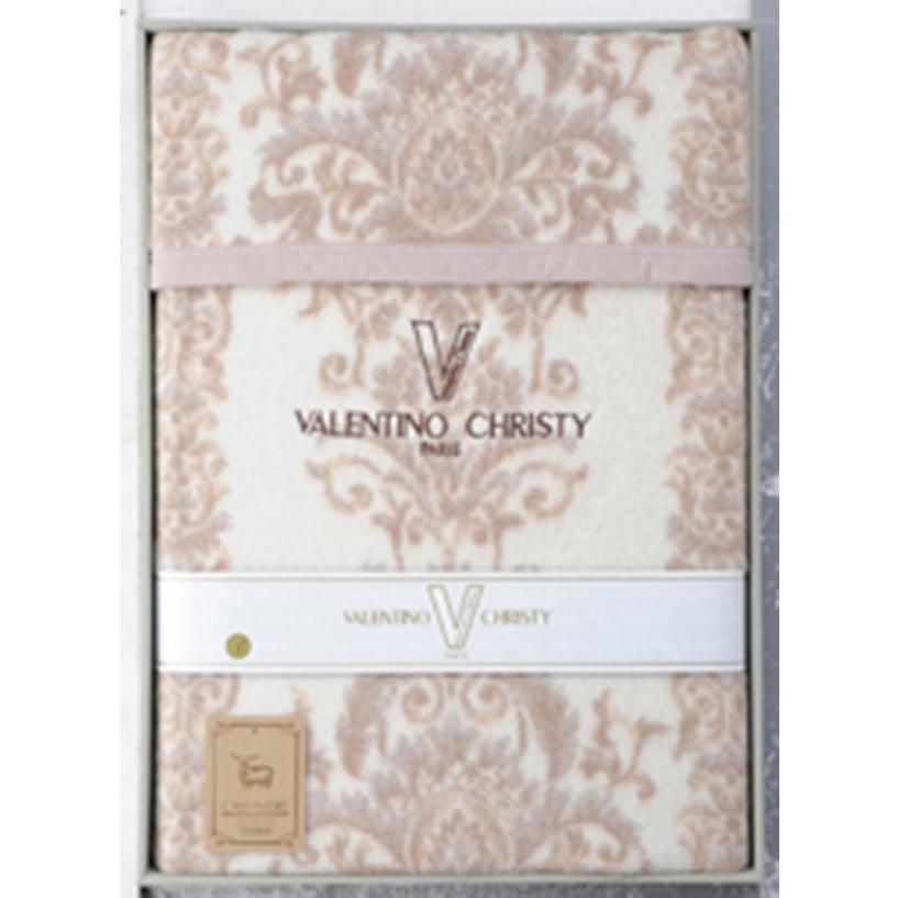 ヴァレンティノ・クリスティー 日本製 ジャカード織りカシミヤ入りウール毛布(毛羽部分)<VCM-915> ジャカード織りカシミヤ入りウール毛布(毛羽部分)<VCM-915>