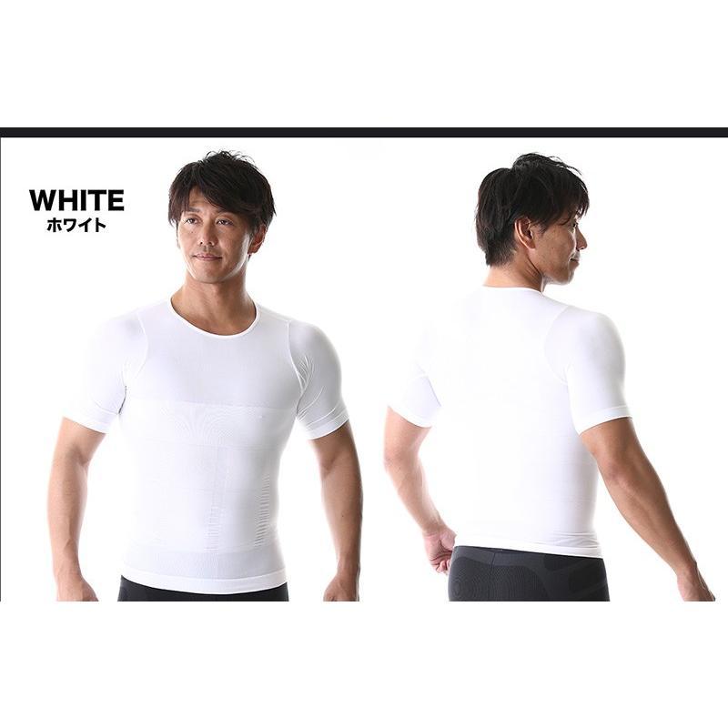 加圧シャツ 加圧インナー コンプレッションウェア 補正下着 ダイエット 半袖 メンズ 加圧 Tシャツ 加圧ウェア アンダーウェア 着圧 ねこ背|web-store|08