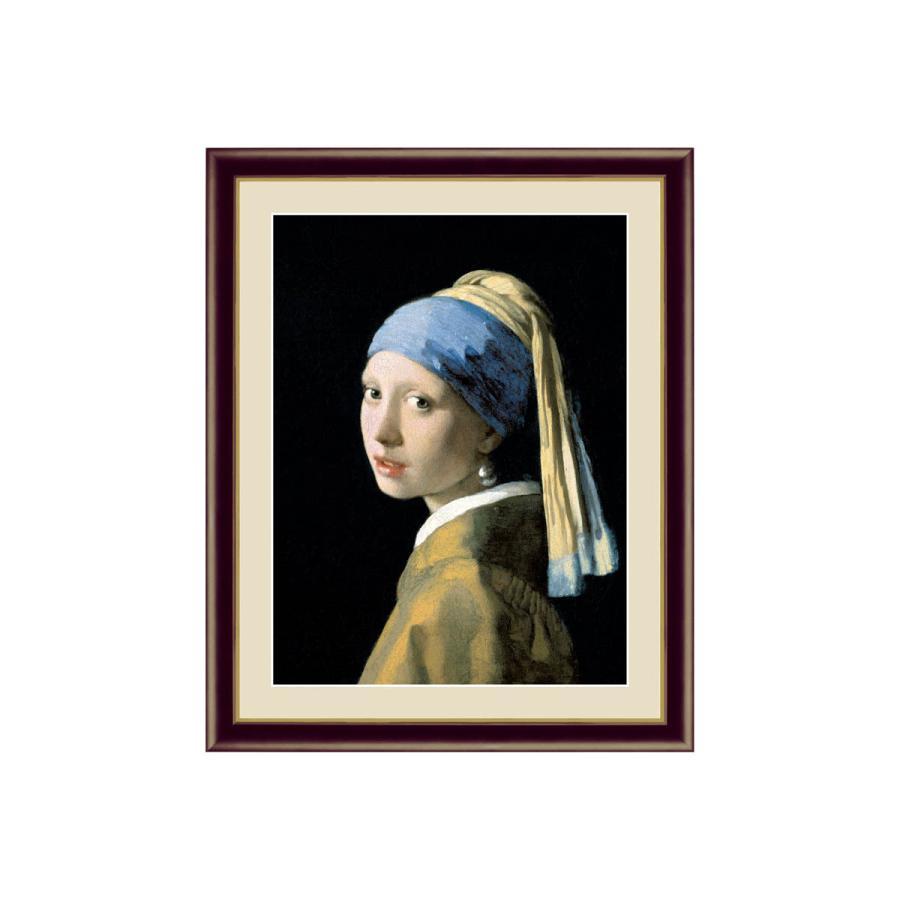 世界の名画 真珠の耳飾りの少女 ヨハネス·フェルメール 額入り おしゃれ インテリア G4-BM001