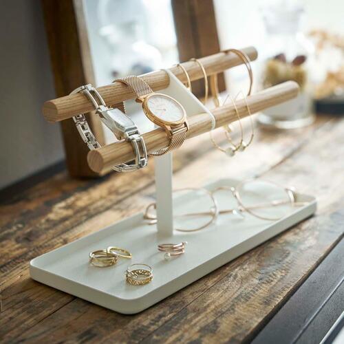 山崎実業 腕時計&アクセサリースタンド トスカ ホワイト 5170|webby|02