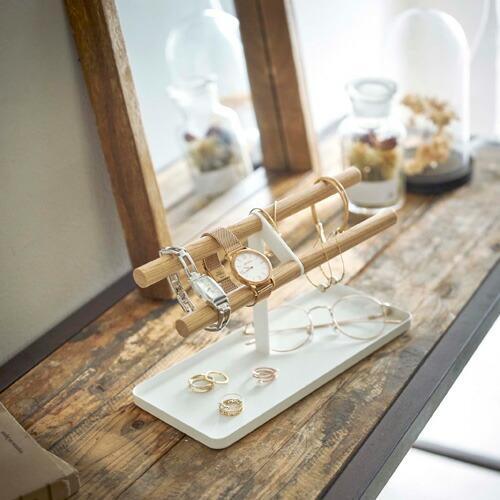 山崎実業 腕時計&アクセサリースタンド トスカ ホワイト 5170|webby|03