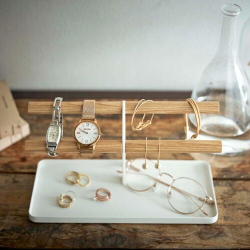 山崎実業 腕時計&アクセサリースタンド トスカ ホワイト 5170|webby|04