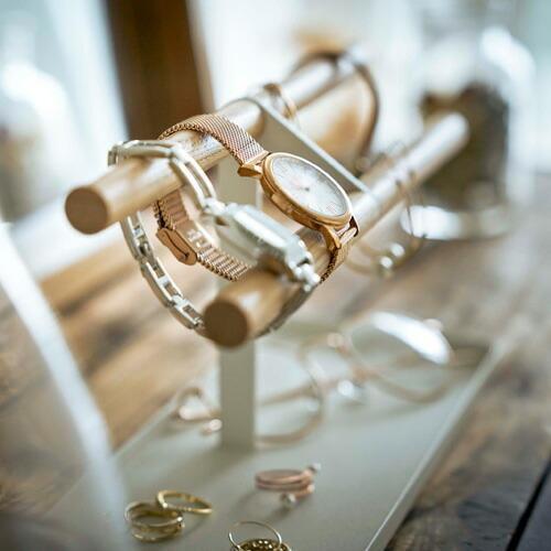 山崎実業 腕時計&アクセサリースタンド トスカ ホワイト 5170|webby|07