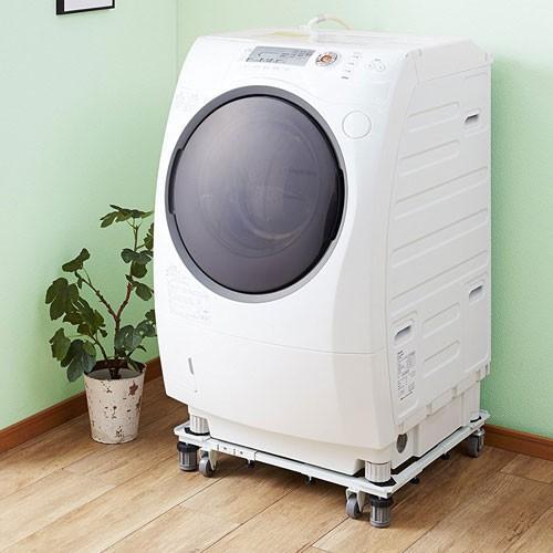 あすつく 平安伸銅工業 角パイプ洗濯機台 ホワイト DSW-151 洗濯機 置き台 洗濯機台 キャスター付き☆★|webby|02