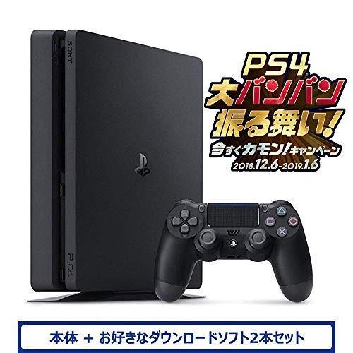PlayStation 4 ジェット・ブラック 500GB (CUH-2200AB01) お好きなダウンロードソフト2本セット(配信) [video game]