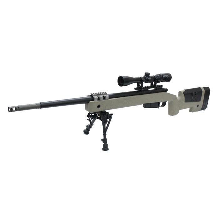 【店内全品2%OFF!】【1本限定特価!】S&T M40A5 エアーコッキング ライフル DE【180日間安心保証つき】