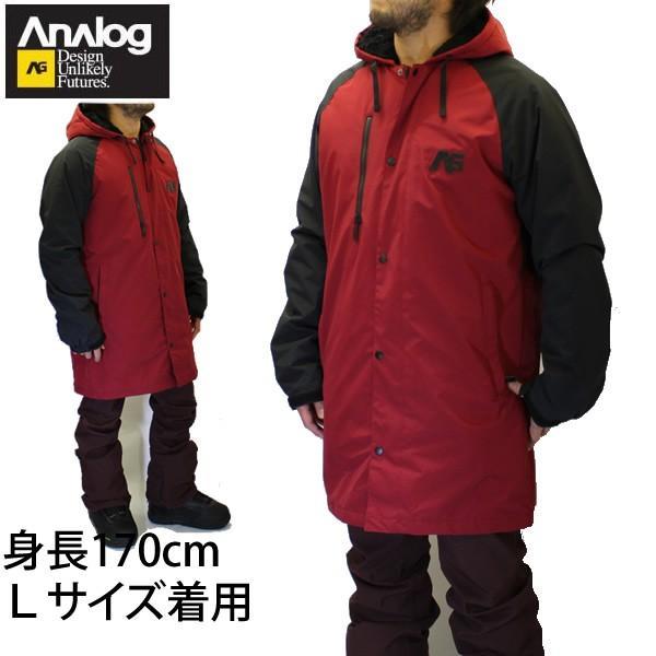 アナログ 16-17 スノーボードウェア ジャケット STADIUM PARKA-JK /BLOOD 黒 ANALOG ウエア スノーボードウェア・スノボー