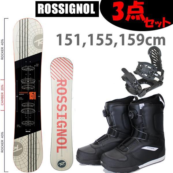 スノーボード 3点セット ロシニョール ロッカーモデル DISTRICT+ ZMビンディング +ロシボアブーツ BLKRED GLADE19 スノボーセット