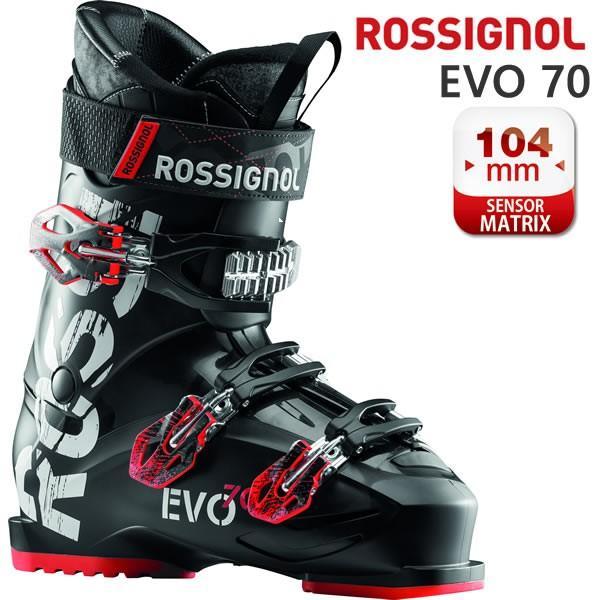 ロシニョール スキーブーツ EVO 70 ブラック レッド(18-19 2019) ROSSIGNOL スキーブーツ 初心者向け