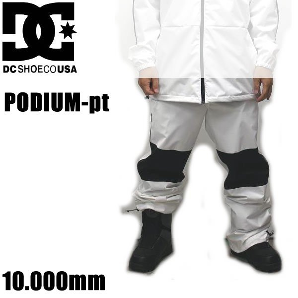 スノーボード ウェア DC メンズ パンツ 19-20 PODIUM -pants / 白い /WBB0 ジョガーパンツ (2019-2020) DCSHOE ウエア スノーボード ウェア メンズ