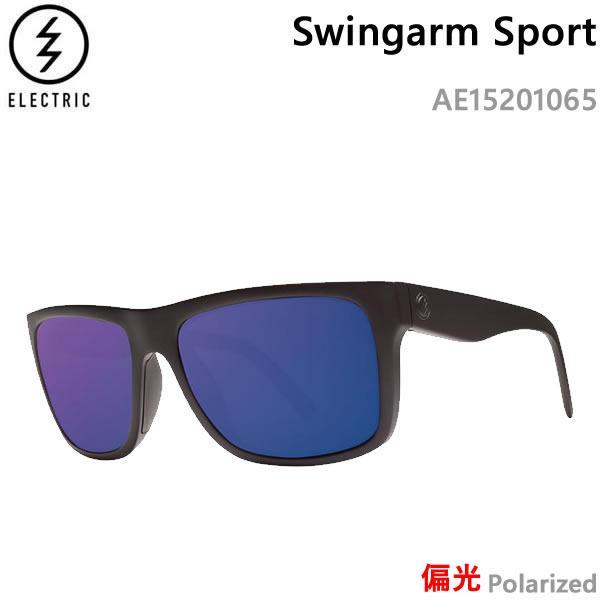 エレクトリック サングラス 偏光 Swingarm Sport/Matte 黒/青 POLARIZED AE15201065 electric サングラス 日本正規品【C1】