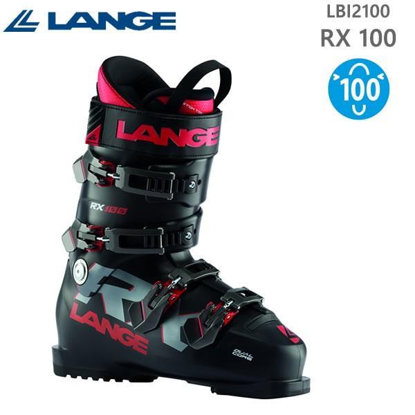 スキーブーツ ラング RX 100 (黒 - 赤)LBI2100(19-20 2020)オールラウンド LANGE スキーブーツ