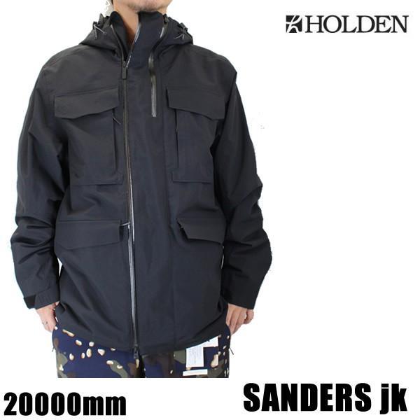 ホールデン ウェア ジャケット 19-20 SANDERS -jacket / 黒 (2019-2020 19-20) HOLDEN ウエア スノーボード ウェア メンズ