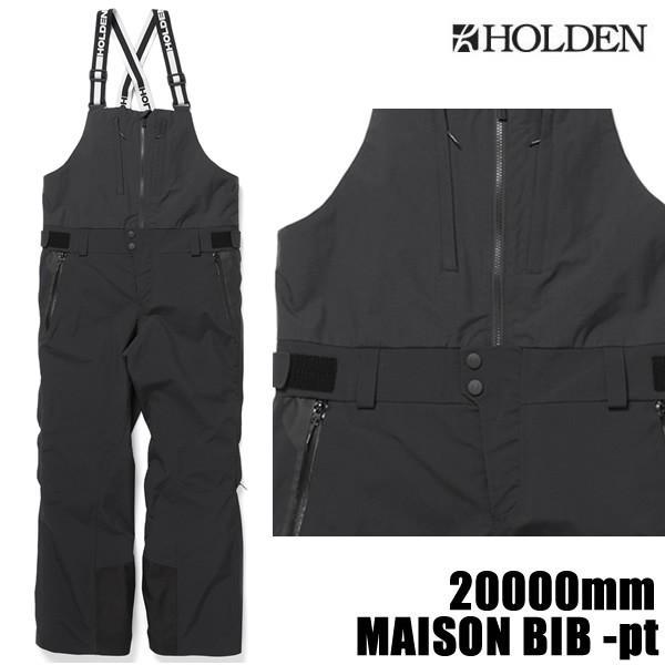 ホールデン ウェア ビブパンツ 19-20 MAISON BIB -pant / 黒 (2019-2020 19-20) HOLDEN ウエア スノーボード ウェア メンズ