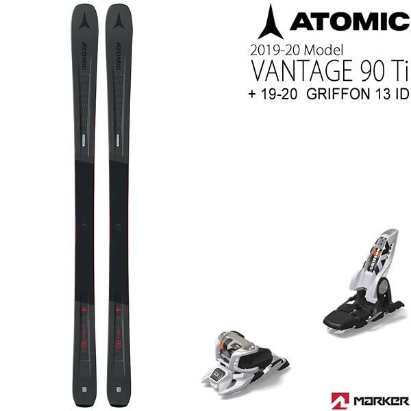 アトミックスキー板 2020 VANTAGE 90Ti + + + 20 マーカー GRIFFON 13 ID ホワイト 90mmブレーキ スキーセット バンテージ90ti 19-20 atomic スキー板 dbe