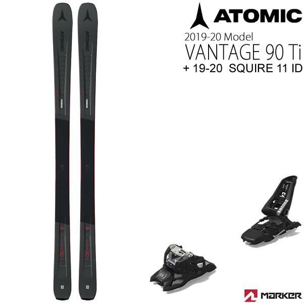 アトミックスキー板 2020 VANTAGE 90Ti + 20 マーカー SQUIRE 11 ID ブラック 90mmブレーキ スキーセット バンテージ90ti 19-20 atomic スキー板 【L2】