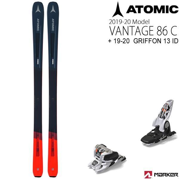 アトミックスキー板 2020 VANTAGE 86C + 20 マーカー GRIFFON 13 ID ホワイト 90mmブレーキ スキーセット バンテージ86C 19-20 atomic スキー板 【L2】