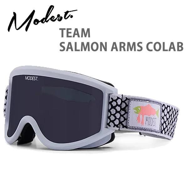 MODEST ゴーグル TEAM - SALMON ARMS COLAB スモークレンズ + ボーナスレンズ(19-20 2020)モデスト スノーボードゴーグル【C1】