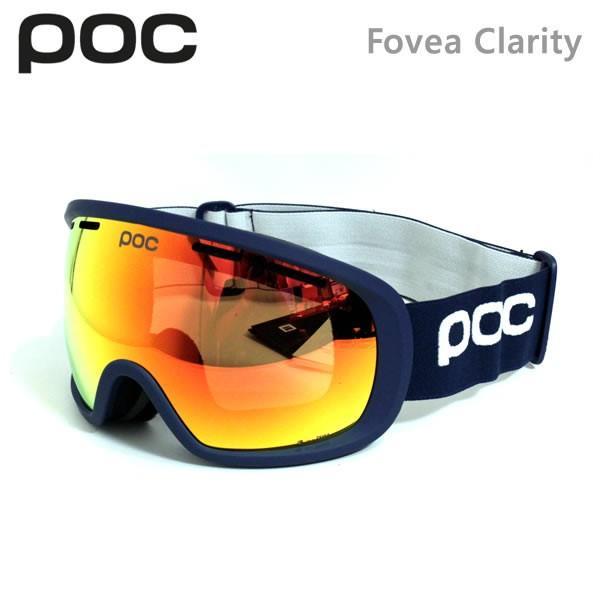 POC ゴーグル Fovea Clarity/Lead 青/SPEKTRIS オレンジ ポック(19-20 2020)アジアンフィット スキー スノーボードゴーグル