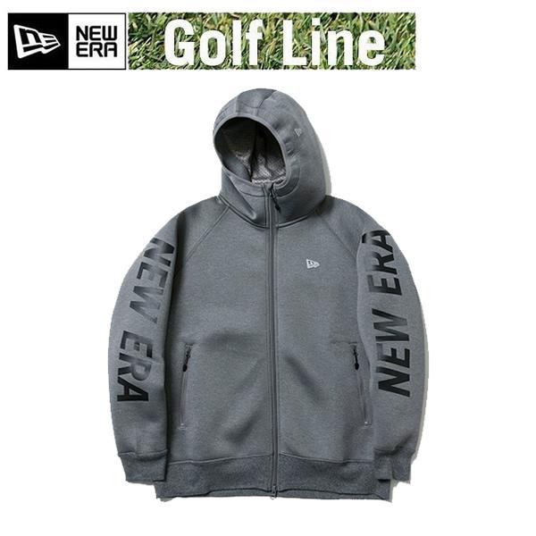 ニューエラ ゴルフ ウォームアップ フルジップ フーディー NEW ERA ロゴ グレー × ブラック (12108281 )日本正規品 ゴルフウェア newera ゴルフ