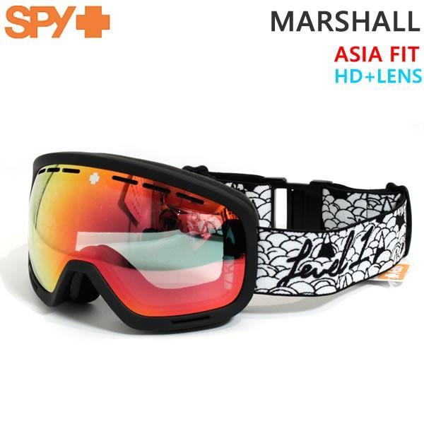 スノーボード ゴーグル SPY スパイ MARSHALL LEVEL 1/HD+ Low Light Gray 緑 w/ 赤 Spectra Mirror 19-20 アジアフィット