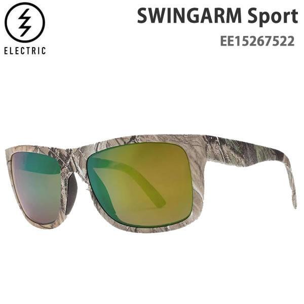 エレクトリック サングラス 偏光レンズ Swingarm Sport / REAL TREE / 緑 POLARIZED PRO -EE15267522 electric サングラス 日本正規品