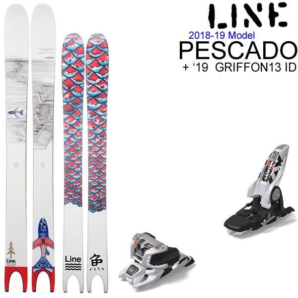 高品質 LINE スキー 2019 スキー板 PESCADO/L2 + 19 マーカー スキーセット GRIFFON 13 ID ホワイト + 136mmブレーキ スキーセット 18-19 ペスカド ライン スキー板/L2, 古着通販 ビンテージ古着屋RUSHOUT:5fa367fe --- airmodconsu.dominiotemporario.com