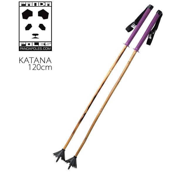 パンダポール スキーストック KATANA Purple 120cm カタナ バンブーシャフト Panda Poles スキーポール
