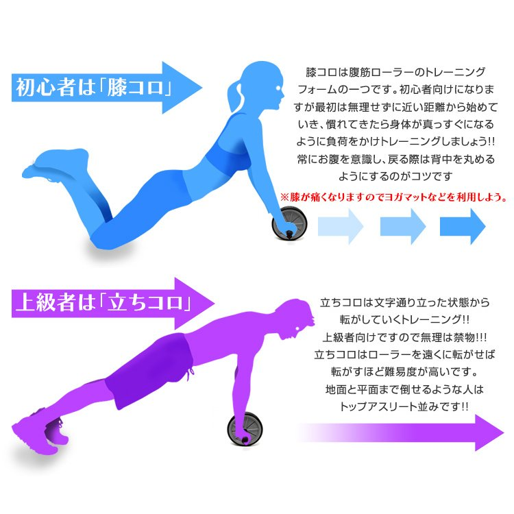 腹筋ローラー マット付き アブ 腹筋マシン 運動器具 エクササイズローラー ヨガマット 10mm セット トレーニング ピラティス ホットヨガ WEIMALL|weimall|07