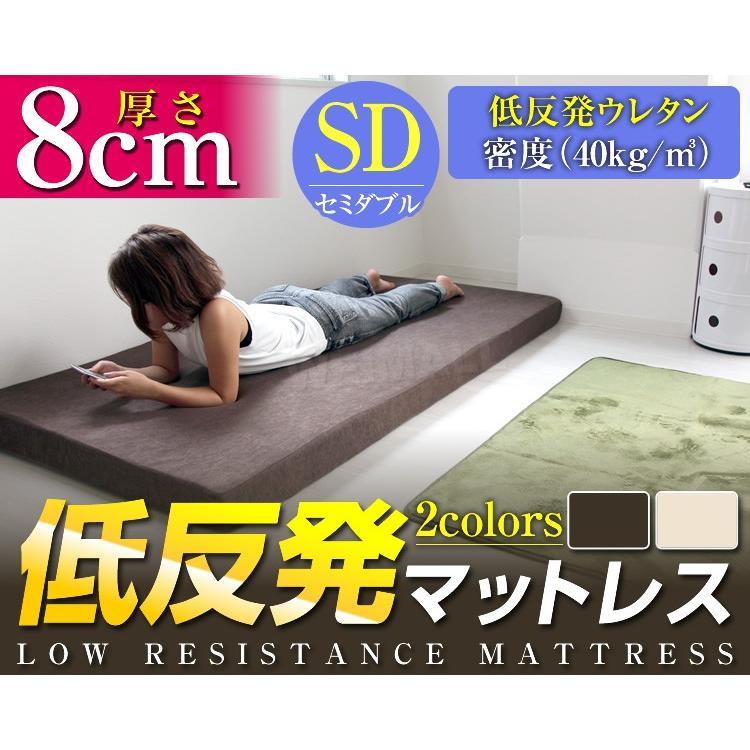 マットレス セミダブル 低反発 厚み8cm 全2色 カバー付き 体圧分散 腰痛 ベッド 寝具 ノンスプリングマットレス 敷き布団 WEIMALL|weimall|02