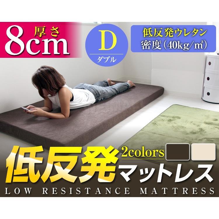 マットレス ダブル 低反発 厚み8cm 全2色 カバー付き 体圧分散 腰痛 ベッド 寝具 ノンスプリングマットレス 敷き布団 WEIMALL weimall 02